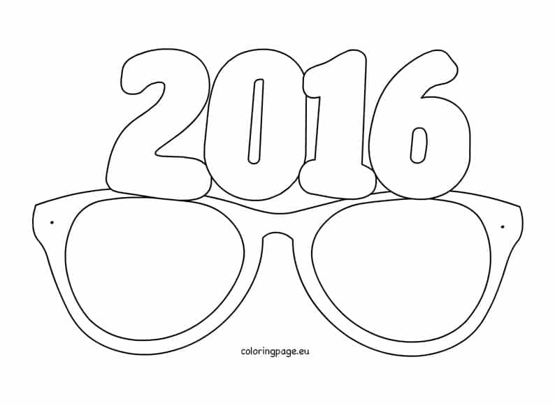 4858744d15b HAPPY HOLIDAYS FROM THE EYE ETIQUETTE TEAM! 2016 Party Glasses Colouring  Sheet