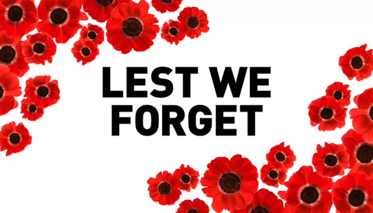 Lest We Forget – Remembrance Day