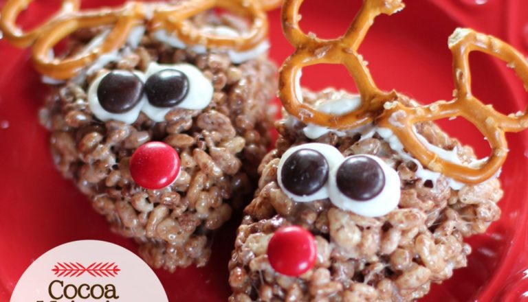 Cocoa Krispies Reindeer Treats
